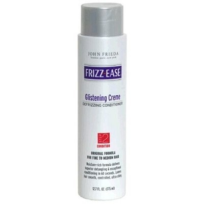 Victory Wholesale Grocers Frizz-Ease Glistening Creme Defrizzing Conditioner for Fine to Medium Hair, Step 2: Condition, 12.7 fl oz (375 ml)