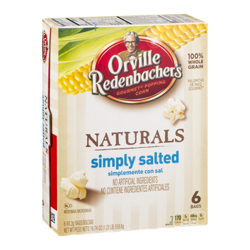 Orville Redenbacker's Gourmet Popping Corn Naturals Simply Salted -6 CT