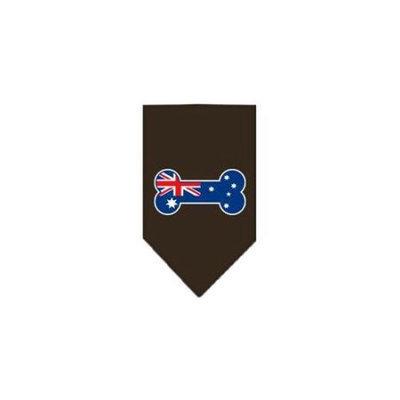 Ahi Bone Flag Australian Screen Print Bandana Cocoa Large