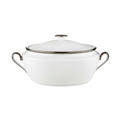 Lenox Solitaire White Covered Vegetable Bowl, 10 3/4