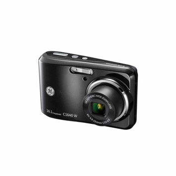 GE Black C1640W Digital Camera with 16 Megapixels and 4x Optical Zoom