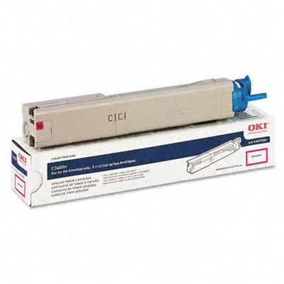 Okidata Corporation 3400/3600 High-Yield Toner Cartridge, Magenta