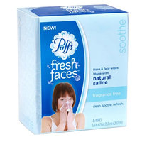 Puffs Fresh Faces Nose & Face Wipes, Fragrance Free, 45 ct
