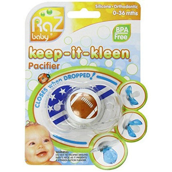 RaZbaby Keep-It-Kleen Pacifier, Football (Discontinued by Manufacturer)