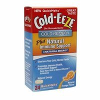 Cold-Eeze Cold Remedy Plus Natural Immune Support + Energy QuickMelts, Orange 24 ea Pack of 2