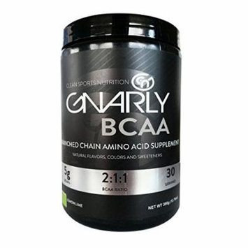 Gnarly BCAA Workout Supplement ,, All Natural Muscle Recovery (Lemon Lime)