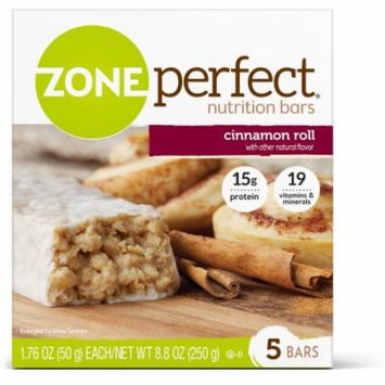 ZonePerfect Cinnamon Roll Nutrition Bars, 1.76 oz, 5 count, (Pack of 6)