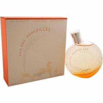 Hermes Eau Des Merveilles Eau de Toilette Spray for Women, 3.3 oz