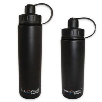 Eco Vessel Sports Bottles 20 oz. Boulder Triple Insulated Bottle with Screw Cap - Blue Glow (Metallic) BLD600BG