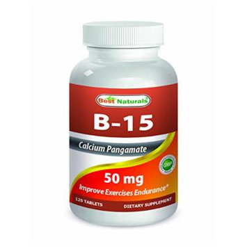 Best Naturals B-15 Calcium Pangamate 50 mg 120 Tablets