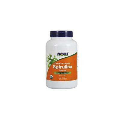 Now Foods Spirulina, 500 Tabs 500 mg (Pack of 2)
