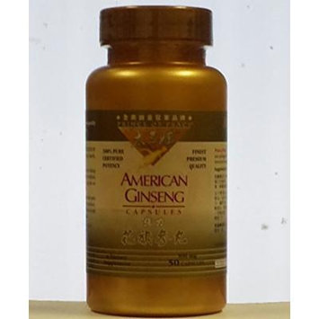 Prince of Peace American Ginseng Capsules(500mg-50 Capsules)