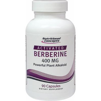 Nutritional Concepts Berberine 400 mg-90 Capsules