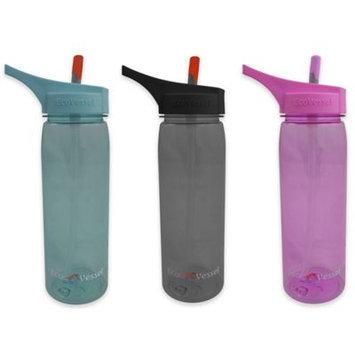 Eco Vessel Sports Bottles 25 oz. Wave Tritan Plastic Bottle with Straw Top - Peony Pink TRT750PP