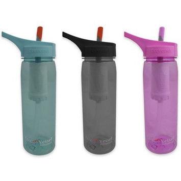 Eco Vessel Sports Bottles 25 oz. Aqua Vessel Ultra Lite Tritan Filtration Bottle - Peony Pink TRTAQV750-PP