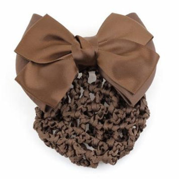 Coffee Color Bowknot Detail Hairnet Snood Net Hair Clip for Ladies