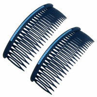 2 Pcs Jewelry Accessory Blue Black Plastic Comb Hair Pin for Lady