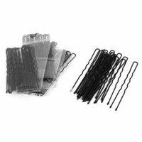 100 Pcs Black Metal Single Prong U Shaped Hair Pin DIY Hairstyle Clips for Women