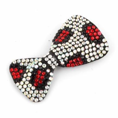 Lady Red White Black Bowknot Shape Single Prong Alligator Hair Clip Barrette