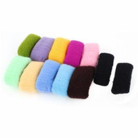 12 Pcs Girls Elastic Hair Ties Band Rope Ponytail Holder Scrunchie Multicolor