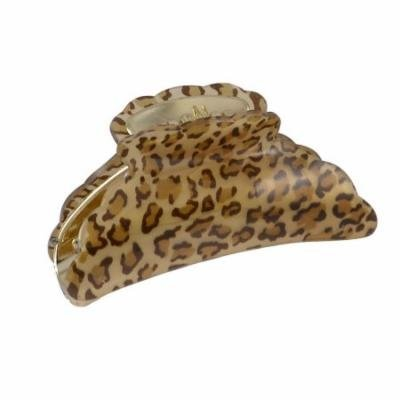 Women Hairdressing Leopard Prints Plastic Hair Claw Hairclip Brown