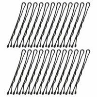 DIY Hairdressing Metal Hair Barrette Bar Clips Black 24 Pcs