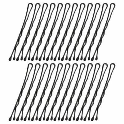 DIY Hairdressing Metal Hair Barrette Bar Clips Black 24 Pcs