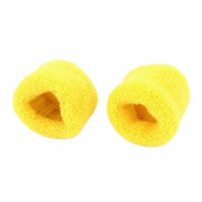 Women Wide Stretchy Hair Tie Ponytail Holder Hairdressing Hairband Yellow 2 Pcs