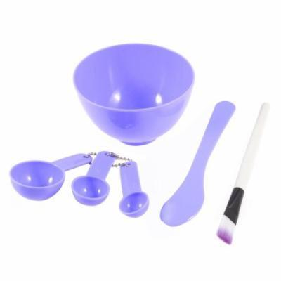 Purple 4 in 1 DIY Facial Mask Bowl Brush Stick Measuring Spoon Cosmetic Tool