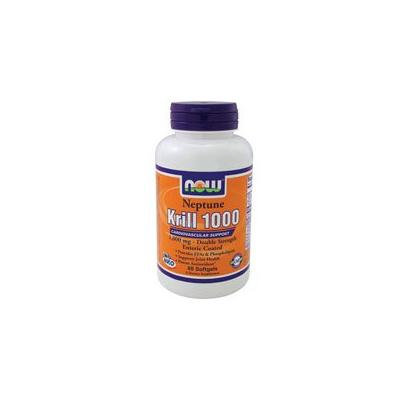 Now Foods Neptune Krill Oil, 60 Softgels 1000 mg (Pack of 4)