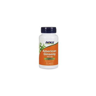 Now Foods American Ginseng, 100 Caps 500 mg (Pack of 4)