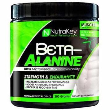 Nutrakey Beta-Alanine Unflavored - 300 Grams