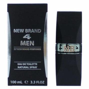 4 Men Cologne by New Brand, 3.3 oz EDT Spray for Men