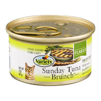 Variety Flaked Cat Food Sunday Tuna Brunch
