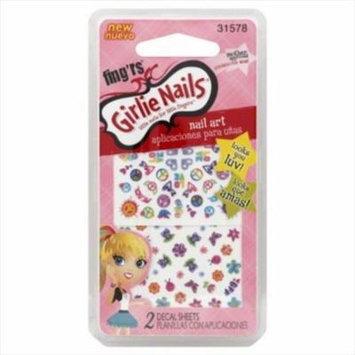Fing'rs Girlie Nails Nail Art, 2 sheets