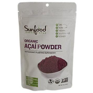 SunFood Organic Amazon Acai Powder 4 oz - Vegan