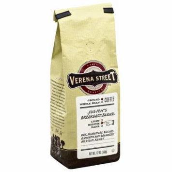 Verena Street Julien's Breakfast Blend Medium Ground Coffee, 12 oz, (Pack of 6)
