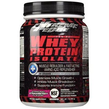 BlueBonnet Extreme Edge Whey Protein Isolate Powder, Striking Strawberry, 1 Pound