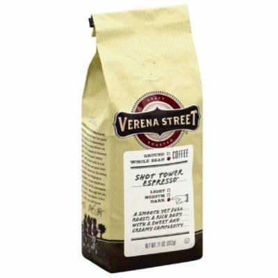 Verena Street Shot Tower Espresso Dark Whole Bean Coffee, 11 oz, (Pack of 6)