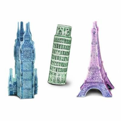 ARCHITECTURAL LANDMARKS EMBOSSED PAPER