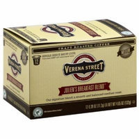 Verena Street Julien's Breakfast Blend Medium Single-Serve Brew Coffee Cups, 4.65 oz, (Pack of 6)