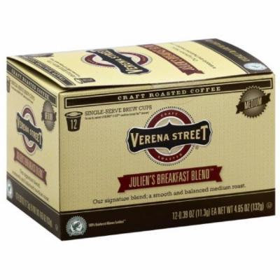 Verena Street Julien's Breakfast Blend Medium Single-Serve Brew Coffee Cups, 4.65 oz, (Pack of 6)