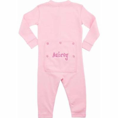 Personalized Infant Name Long John, Pink