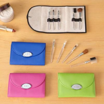 Personalized Make Up Brush Set, Available in 4 Colors