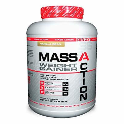 Reaction Nutrition Recor Mass Action Weight Gainer, Vanilla Bean, 6 Pound