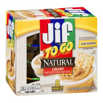Jif Natural Creamy Peanut Butter, 12 OZ (Pack of 6)