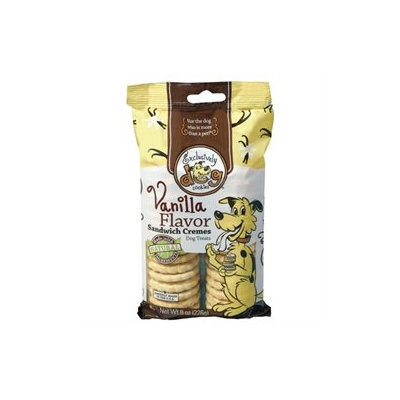 Exclusively Pet Sandwich Crme Dog Treats Vanilla 8 Ounce 02500