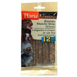 Hartz Dental Munchy Rawhide Strip for Pet Dog Treat