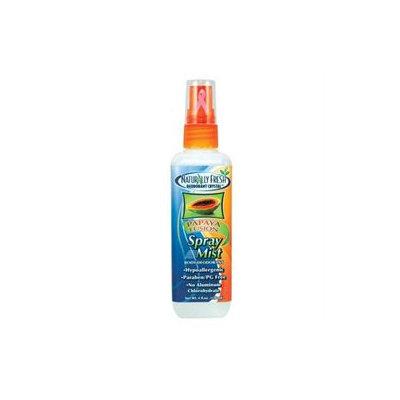 Body Deodorant Spray Mist, Papaya, 4 oz, Naturally Fresh Deodorant Crystal