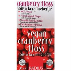 Radius - Vegan Dental Floss Cranberry - 55 Yards